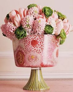Lovely cachepot and arrangement