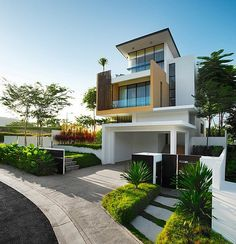 Modern exterior design for small houses architecture art contemporary designs . modern exterior design for small houses modern Architecture Design, Plans Architecture, Residential Architecture, Landscape Architecture, Landscape Design, Modern Contemporary Homes, Contemporary Architecture, Modern Homes, Modern Mansion