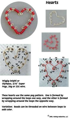 Free Wigjig Patterns | Wire Hearts - Pg 3 Made with WigJig Jewelry Making Tools, Beads, Wire ...