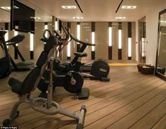 With a well-equipped gym the new owners of the house won't have to mingle with the riff-raff while going for a work out