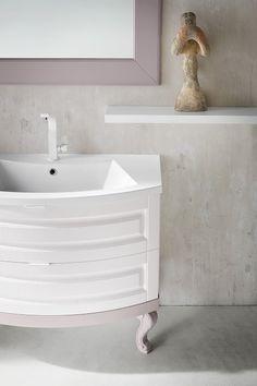 FINCH | FH 13 | Compab. Structure 540 white ash Doors 540 white ash Washbasin FUSION 96 in mineralmarble.