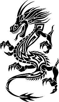龙形纹样矢量素材2