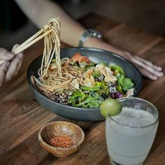 Enjoying my lunch at @Kzu.Wabusabi light and fresh Chilled Soba Salad perfect for a hot sunny day.  @Kzu.Wabisabi is a nice place for a quick lunch or dinner with fresh and healthy food. --- Kzu/@Wabi Sabi Jalan Sunset Road Seminyak Bali --- #Foodcious #KZUWabiSabi #izakayastyle #sobanoodles #seminyakfood
