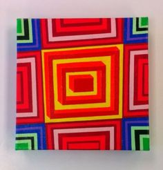 Op Art Box Painting 1, Op Art, Phish, Abstract, Acrylic, Disco Biscuits