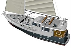Nordhavn 56 Motorsailer Ready for Launch Pilothouse Boat, Trawler Yacht, Utility Boat, Sailboat Interior, Cabin Cruiser, Boat Projects, Boat Rental, Super Yachts, Motor Yacht