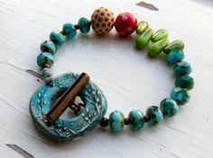 Garden Green handmade bracelet bead bracelet green by songbead