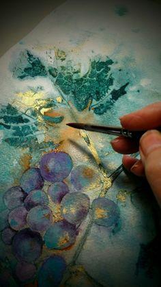 Layering colours...in studio work.  ColoursBySheri.com