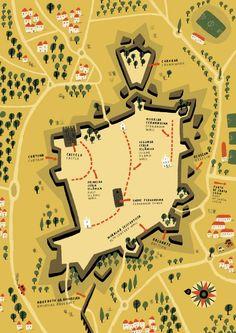 Elvas by Andre Letria #grafica #illustrazione #mappa