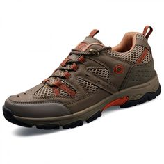 Quality men taller hiking shoes 6.5cm / 2.6inch khaki mountaineering shoes