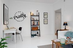 This creative typographical wall decal is a fun and sort of cocky addition to your craft space, workshop, office, or creative workspace. Wherever you