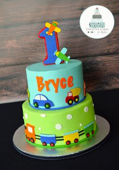 Children's Birthday Cakes - Cakes Iced in buttercream, handcut fondant decorations