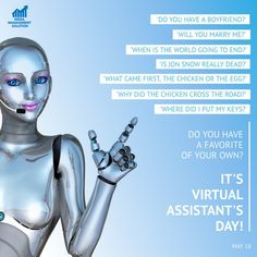The International Virtual Assistants Day is a day set aside to acknowledge the effort, determination and commitment of virtual assistants. The day is usually sponsored by the Alliance for Virtual Businesses and the celebrations held during the Online International Virtual Assistants Convention. Its main purpose is usually to create awareness about virtual assistants' services in the business community. Get your Virtual Assistant  #businessstartup #smm #marketingonline