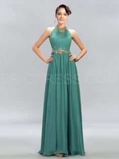 Pretty Jewel Beading A-Line Evening Dress 2