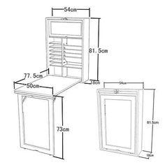 SoBuy Wandklapptisch, Kindermöbel, Küchentisch, Esstisch mit Tafel FWT08-W