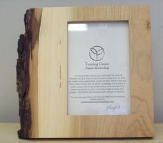 live edge picture frame - Google Search