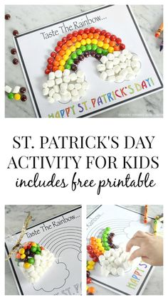 St. Patrick's Day Activity For Kids including free printable at Tatertots and Jello