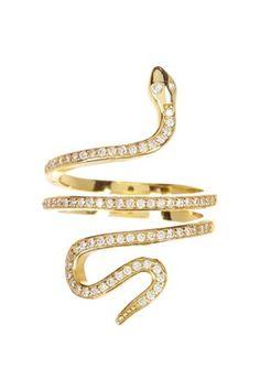 Gold Snake Ring - Size 7