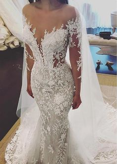 "If the words ""gorgeous long sleeve wedding dress"" set your heart racing, you're in for a treat. Find your perfect long-sleeve wedding dress! Wedding Dress Empire, Wedding Dress Black, Sheath Wedding Gown, Western Wedding Dresses, Wedding Dress Sleeves, Dream Wedding Dresses, Designer Wedding Dresses, Bridal Dresses, Lace Dress"