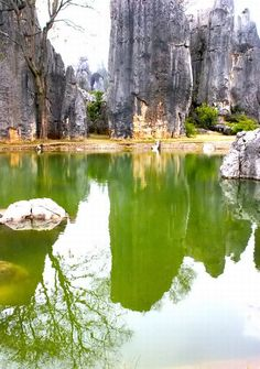 Shilin Stone Forest, China, Weird Rocks Pointing to the Sky