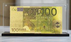 Bancnota de 100 de leuro placata cu aur de 24k Cand e bine sa oferi bani cadou