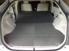 Foam floor mats for car trips with the dogs