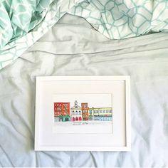#watercolor #newyorkcity #NYC buildings #architecture marinamuse @marinamusestudio graphic design custom art My Design, Graphic Design, Custom Art, Buildings, Nyc, Watercolor, Architecture, Frame, Illustration