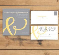 DIY/Printable Wedding Invitation/RSVP postcard  by cartamodello, $20.00