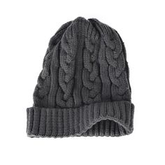 Men Cable Cuff Beanie Hat Women Chunky Pom Knit Winter Hat  #Unbranded #Beanie