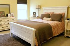 Queen Distressed Headboard and Footboard by goodmanbm on Etsy, $625.00