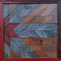 Barn Wood Quilt Star Pattern Square Sign Wall Art 12.5x12.5