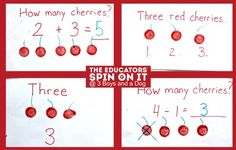 How to make a cherry counting book -  HiHo! Cherry O Inspired Game Night