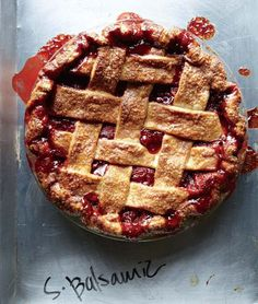 """The strawberry balsamic pie from """"The Four & Twenty Blackbirds Pie Book"""" might be one of the most gorgeous pies I've ever seen."""