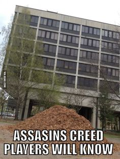 If you've ever played Assassin's Creed, you'll understand