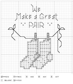 "DIY:  Cross Stitch....We Make a Great ""Pair"""