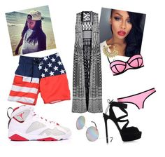 """""""Beach Date with Jacquees"""" by jordan-breezy ❤ liked on Polyvore"""