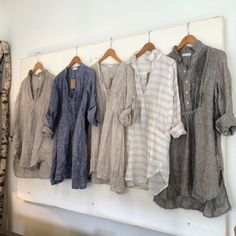 breaking fashion rules one day at a time... Linen tunics year round!