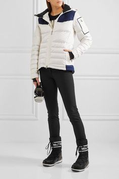 Perfect Moment - Amak Quilted Down Ski Jacket - White - x small