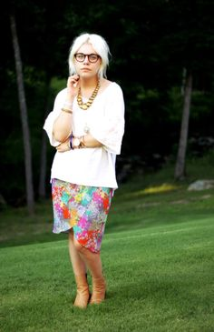 22 Ways to Wear Fun, Graphic Skirts This Summer. Hannah Henderson, shot for Styles by Hannah Riles, via Lookbook