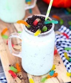 Halloween Milkshake with Gummy Worms | Wayfair