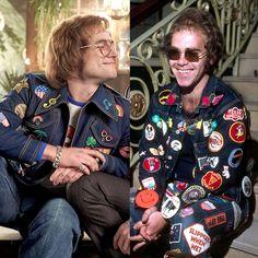 Rocketman was actually based off a singer named Elton John Elton John Costume, Rocketman Movie, Taron Egerton Kingsman, Gangs Of New York, Denim Jacket Patches, Billy Elliot, Richard Madden, Daffy Duck, Jamie Bell
