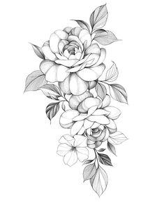 Mini Tattoos, Rose Tattoos, Flower Tattoos, Body Art Tattoos, Sleeve Tattoos, Thigh Tattoos, Rose Drawing Tattoo, Tattoo Design Drawings, Tattoo Sketches