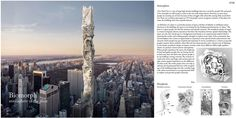 """eVolo 2016 Honorable Mention  Project by:Jayong Shim, Dailong Ma, Tai Feng USA """"Biomorph Skyscraper: Atmosphere Of The Place"""""""
