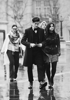 Oh, that's nothing.... Just Matt Smith & Jenna Coleman looking brilliant in the rain.... :)