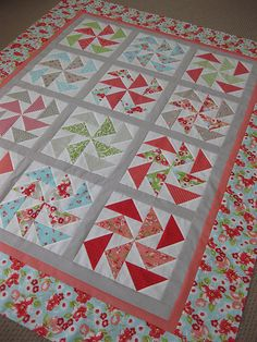 Ruby Dutchmen's Puzzle by Danielle (from American Patchwork and Quilting Magazine Scrappy Quilts, Easy Quilts, Small Quilts, Quilting Fabric, Quilting Projects, Quilting Designs, Sewing Projects, Quilting Ideas, Sewing Ideas
