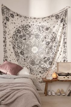 College Apartment Living Room Tapestry