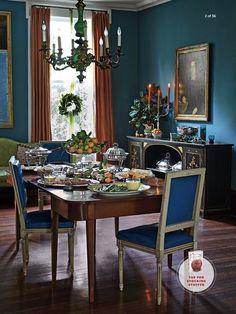 Julia Reed dining room via Southern Lving