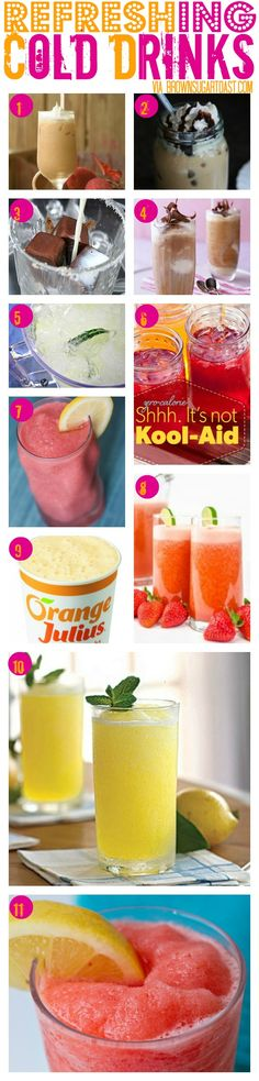 Refreshing cold drinks for hot summer days
