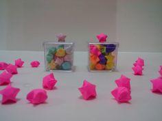 Caixinha Acrílica c/ Estrela de Origami