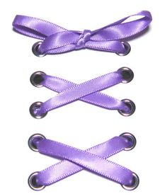 "1/4"" Lilac Narrow Satin Ribbon Shoelaces ✿ Our beautiful ribbon shoelaces make your ordinary shoes look extraordinary ✿"