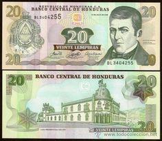 dinero de honduras | HONDURAS. Billete de 20 lempiras 13.7.2006. Pick 93b. Bonito. S/C ...